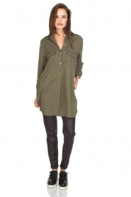 MASONS |  Tunic blouse Sofia | green  | Picture 3