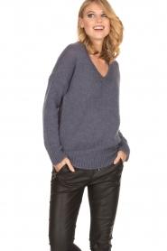 Aaiko |  Sweater Marien | purple  | Picture 2