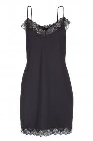Hanro |  Slip dress with lace Luna | black  | Picture 1