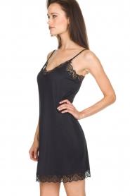 Hanro |  Slip dress with lace Luna | black  | Picture 3