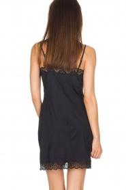 Hanro |  Slip dress with lace Luna | black  | Picture 4