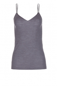 Hanro |  Cami of wool and silk Wera | grey  | Picture 1