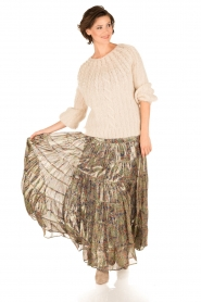 Mes Demoiselles |  Silk skirt Camelia | multi  | Picture 8