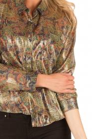 Mes Demoiselles | Zijden blouse Cerisier | multi  | Afbeelding 5