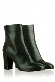 L'Autre Chose |  Metallic leather ankle boot Dakota | green  | Picture 3
