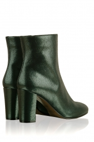 L'Autre Chose |  Metallic leather ankle boot Dakota | green  | Picture 4