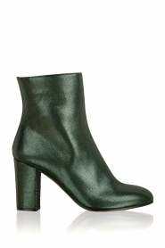 L'Autre Chose |  Metallic leather ankle boot Dakota | green  | Picture 1