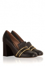 L'Autre Chose |  Leather pump Adaline | black   | Picture 3