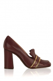 Leren pump  Adaline | bordeaux