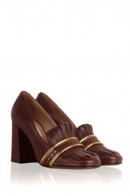 L'Autre Chose |  Leather pump Adaline | bordeaux  | Picture 3