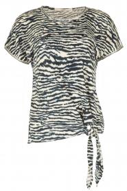 Aaiko | Top Alyona Zebra | blauw  | Afbeelding 1