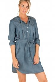 Aaiko | Denim jurk Brunelle | blauw  | Afbeelding 2