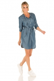 Aaiko | Denim jurk Brunelle | blauw  | Afbeelding 3