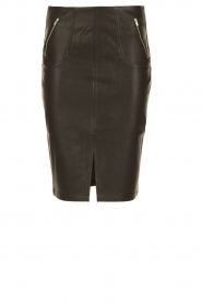 Faux leather skirt Pylian | black