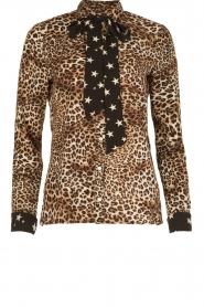 Aaiko | Dierenprint blouse Adora | bruin  | Afbeelding 1