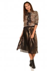 Aaiko | Dierenprint blouse Adora | bruin  | Afbeelding 3