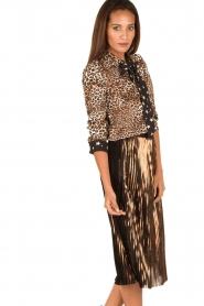 Aaiko | Dierenprint blouse Adora | bruin  | Afbeelding 4
