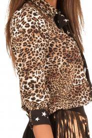 Aaiko | Dierenprint blouse Adora | bruin  | Afbeelding 6