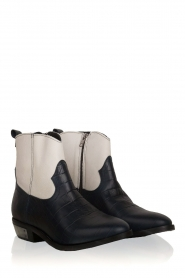 Catarina Martins |  Leather ankle boots Boca | blue  | Picture 3