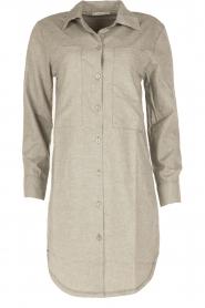 Sunday in Bed | Flanellen nachthemd Stassy | grijs  | Afbeelding 1