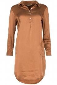 Sunday in Bed | Zijden nachthemd Sarah | bruin  | Afbeelding 1