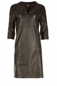 Arma | Leren jurk Murret | zwart  | Afbeelding 1