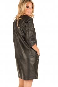 Arma | Leren jurk Murret | zwart  | Afbeelding 5
