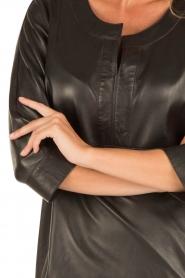 Arma | Leren jurk Murret | zwart  | Afbeelding 6
