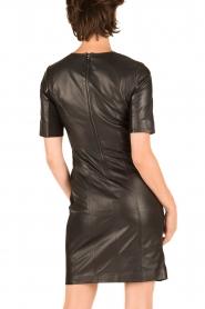 Arma | Leren jurk Alexis | zwart  | Afbeelding 5