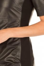 Arma | Leren jurk Alexis | zwart  | Afbeelding 6
