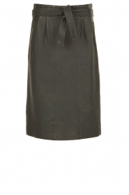 Leather skirt Alba | blue