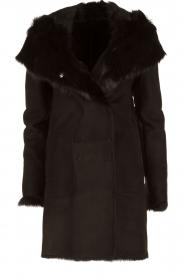 Arma | Lammy coat Olivet | zwart  | Afbeelding 1
