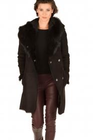 Arma | Lammy coat Olivet | zwart  | Afbeelding 2