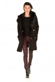 Arma | Lammy coat Olivet | zwart  | Afbeelding 3