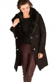 Arma | Lammy coat Olivet | zwart  | Afbeelding 4