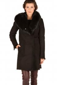 Arma | Lammy coat Olivet | zwart  | Afbeelding 5