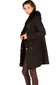 Arma | Lammy coat Olivet | zwart  | Afbeelding 6