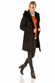 Arma | Lammy coat Olivet | zwart  | Afbeelding 9