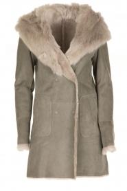Arma | Lammy coat Olivet | grijs  | Afbeelding 1