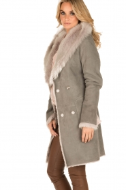 Arma | Lammy coat Olivet | grijs  | Afbeelding 4