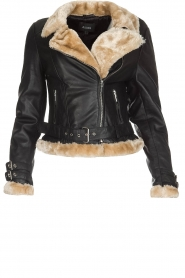 Biker jacket Amy | zwart