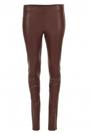 Arma |  Lamb leather stretch leggings Roche | burgundy  | Picture 1