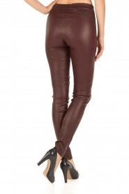 Arma |  Lamb leather stretch leggings Roche | burgundy  | Picture 5