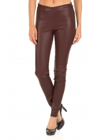 Arma |  Lamb leather stretch leggings Roche | burgundy  | Picture 2