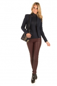 Arma |  Lamb leather stretch leggings Roche | burgundy  | Picture 3