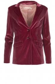 Patrizia Pepe | Velvet blazer Giacca | roze  | Afbeelding 1
