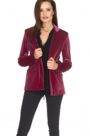 Patrizia Pepe | Velvet blazer Giacca | roze  | Afbeelding 2