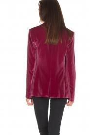 Patrizia Pepe | Velvet blazer Giacca | roze  | Afbeelding 5