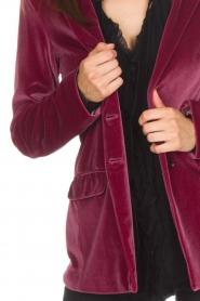 Patrizia Pepe | Velvet blazer Giacca | roze  | Afbeelding 7