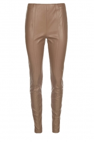 Faux leather pants Acadia | camel